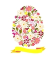 Easter egg from flowers with a tape vector image vector image