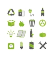 Ecology waste sorting and recycle icons vector image vector image