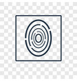 fingerprint scan concept linear icon isolated on vector image vector image