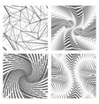 geometric abstract background set design concept vector image vector image