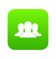 group of people icon digital green vector image