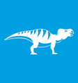 hadrosaurid dinosaur icon white vector image vector image