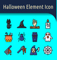halloween color line icon2 vector image vector image