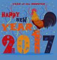 happy new 2017 year rooster concept vector image