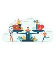 health and work on scales people balance job vector image vector image