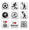 I love football or soccer man kicking ball vector image vector image