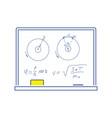 icon of classroom blackboard vector image vector image