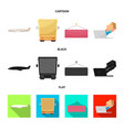 isolated object of goods and cargo symbol set of vector image vector image