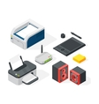 Isometric office equipment vector image
