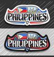 logo for philippines vector image