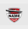 low rider car label american muscle vintage vector image vector image