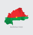 map of burkina faso vector image vector image