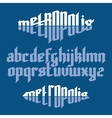 Metropolis gothic font vector image vector image