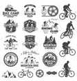 mountain biking collection vector image