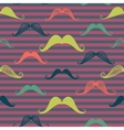 Mustache seamless pattern in vintage style vector image vector image