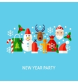 New Year Party Greeting Concept vector image vector image