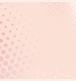 pink background with dots from small to big vector image vector image