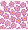 pink flower decorative seamless pattern vector image