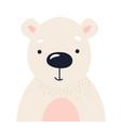 polar bear cute animal baby face vector image
