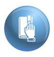 political oath icon simple style vector image