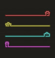 present icon set in neon light vector image vector image