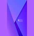purple background paper overlaps layers vector image