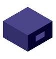 purple box icon isometric style vector image vector image
