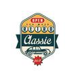 retro classic car wash logo open 24 7 auto vector image vector image