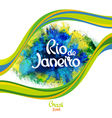 Rio de Janeiro on a background watercolor stains vector image vector image