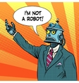 robot leader politician vector image vector image