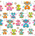 seamless pattern robot vector image vector image