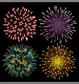 set of colorful fireworks vector image vector image