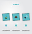 set of piracy icons flat style symbols with vector image
