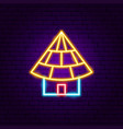 small building neon sign vector image vector image