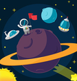 Spaceman Planet Success Cartoon Background vector image vector image