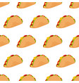 taco seamless pattern isolated on white background vector image vector image