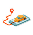 taxi service for mobile internet app vector image