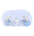 teamwork negotiations success in office concept vector image