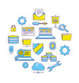 technology data center tools server vector image vector image