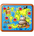 treasure map with kids on the ship vector image