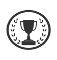 Trophy cup with Laurel wreath icon 4 vector image vector image