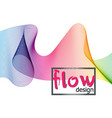 wave colorful texture on dark background flow vector image vector image