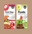 world food day flyer design with pork shop vector image vector image