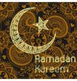 Zentangle stylized Ramadan Kareem greetings gold vector image vector image