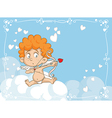 Cupid Shooting Love Arrows Cartoon vector image
