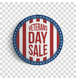 veterans day sale round realistic banner vector image