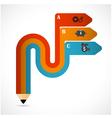 Pencil modern minimal arrow elements vector image