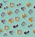 colored jeweler pattern vector image