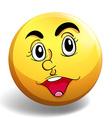 Happy face vector image