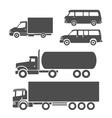 Trucks icons set vector image